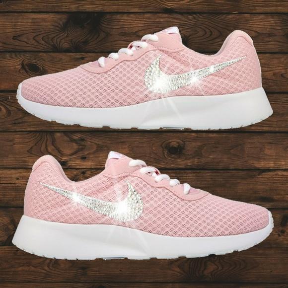 5652f623bf799 Swarovski Crystal Bling Nike Tanjun Rose Pink